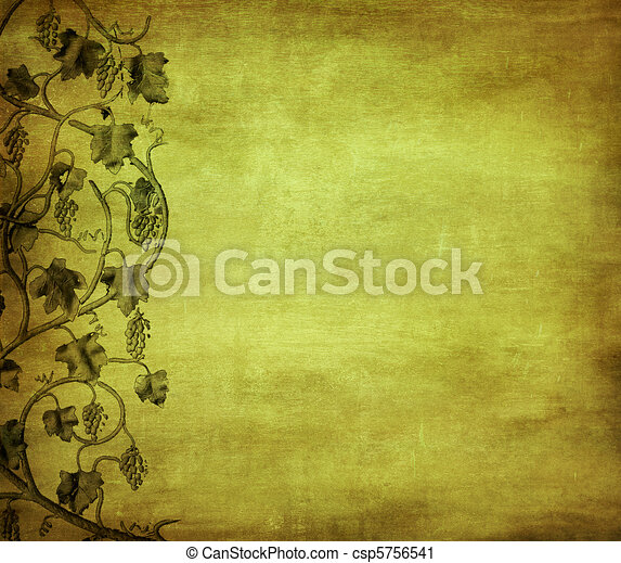 grunge background with grape, ideal pattern for wine list - csp5756541