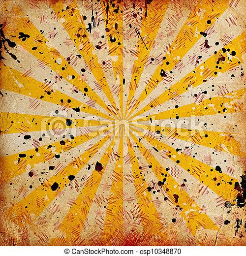 grunge, bakgrund, stjärnor - csp10348870