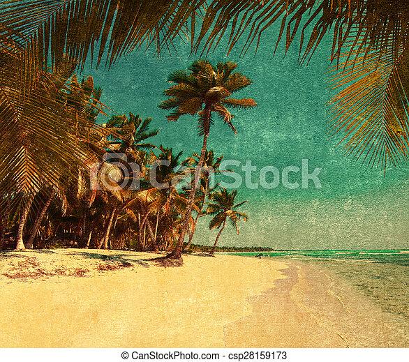 grunge beach - csp28159173