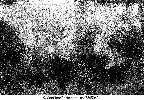 Grunge black and white abstract distress background or texture. - csp78650424