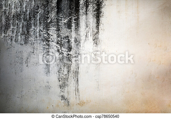 Grunge black and white abstract distress background or texture. - csp78650540