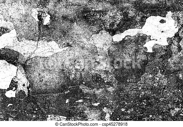 Grunge black and white distress texture . Grunge scratch and texture or ackground. Vintage or grungy of Old cement wall background. - csp45278918