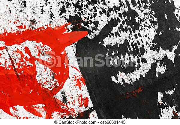 Grunge Black and White Distress Texture. - csp66601445