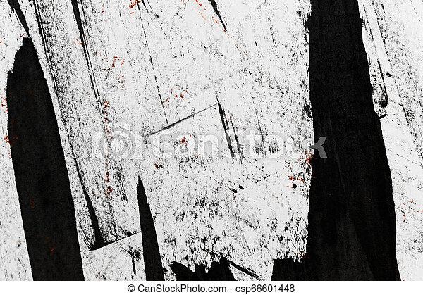 Grunge Black and White Distress Texture. - csp66601448