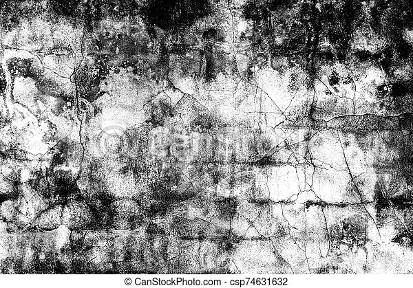 Grunge black and white distress texture . Scratch and texture. - csp74631632