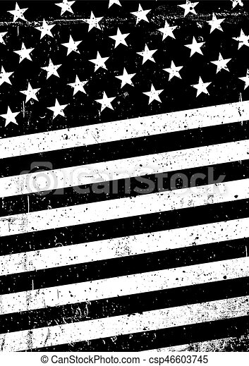 Grunge Black And White United States Of America Flag Abstract