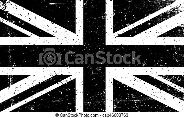 920ec2a3f1f0 Grunge Black And White Vector Image Of The British Flag. Abstract Grungy  Great Britain Background.