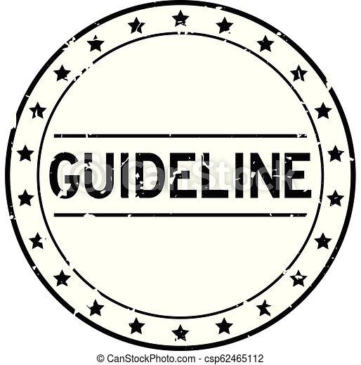 Grunge black guideline word round rubber seal stamp on white background - csp62465112