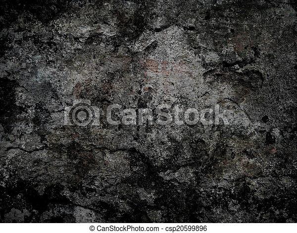 grunge, black , oppervlakte, achtergrond - csp20599896