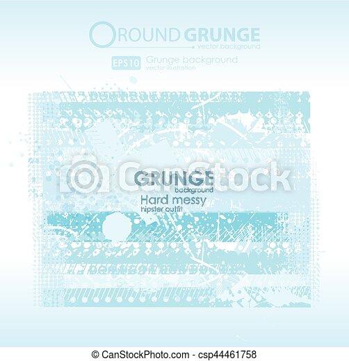 Grunge blue textures - csp44461758