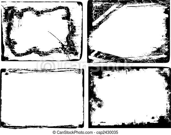 grunge, borda, textura - csp2430035