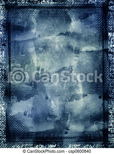 Grunge border and background - csp0600840