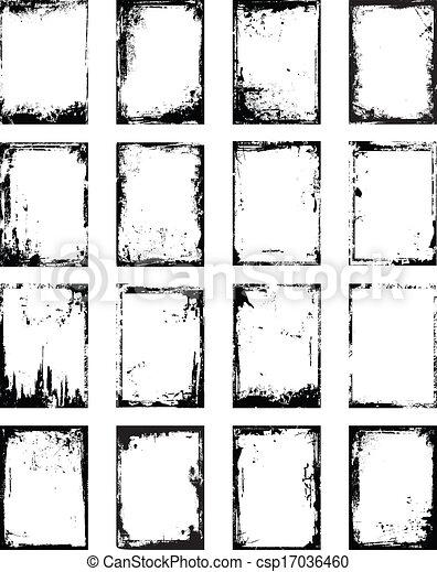 Grunge border - csp17036460