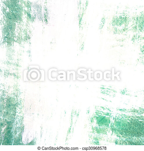 Grunge border, green painted background - csp30968578