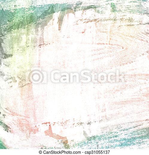 Grunge border, painted background - csp31055137