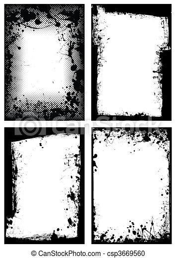 grunge, bordo, collezione - csp3669560