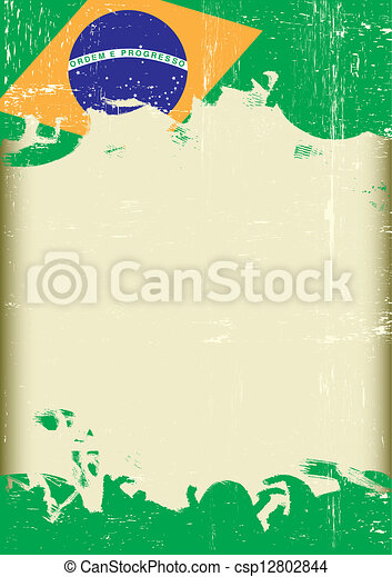 Grunge Brazilian flag - csp12802844