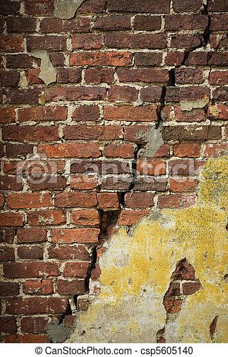grunge brick wall - csp5605140