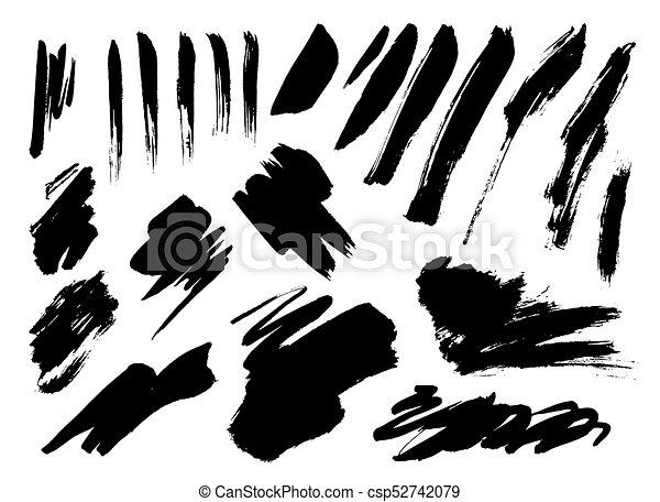 Grunge Brush Stroke set - csp52742079