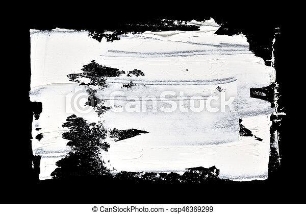 Grunge brush strokes of oil paint - csp46369299