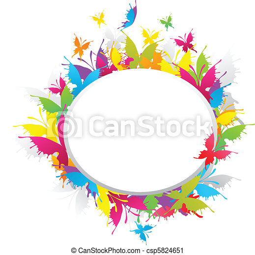 grunge butterfly frame grunge colorful butterfly frame vector clip rh canstockphoto ca grunge vector frame grunge vector free download