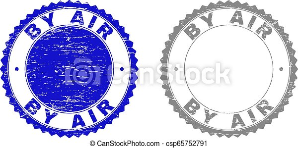Grunge BY AIR Scratched Stamps - csp65752791
