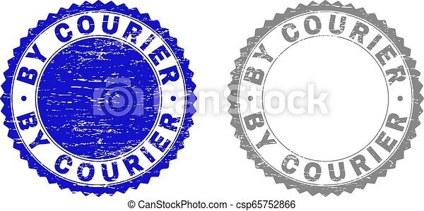 Grunge BY COURIER Textured Stamps - csp65752866