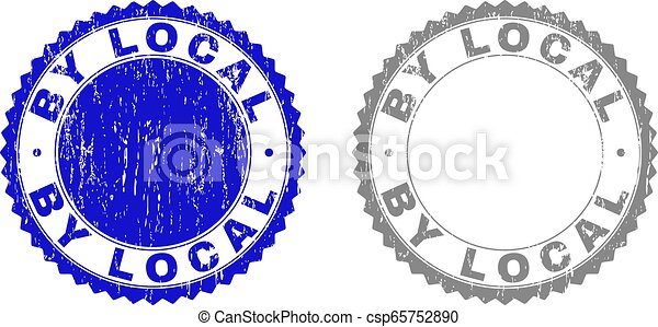 Grunge BY LOCAL Scratched Stamps - csp65752890