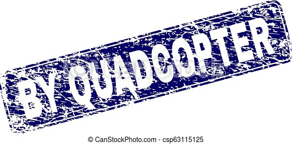 Grunge BY QUADCOPTER Framed Rounded Rectangle Stamp - csp63115125