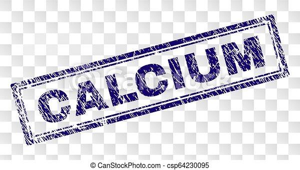 Grunge CALCIUM Rectangle Stamp - csp64230095