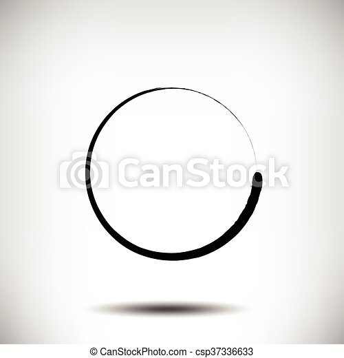 grunge, cerchio, pinstripe, sfondo nero - csp37336633