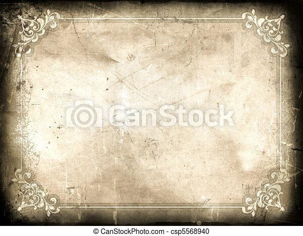Grunge certificate background - csp5568940