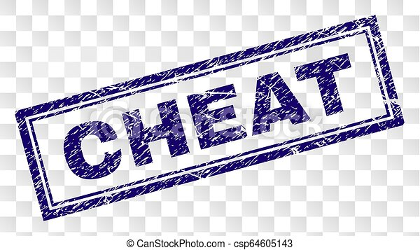 Grunge CHEAT Rectangle Stamp - csp64605143