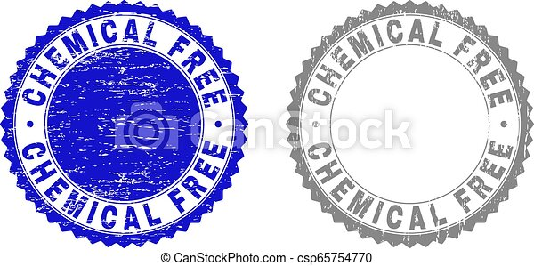 Grunge CHEMICAL FREE Textured Watermarks - csp65754770