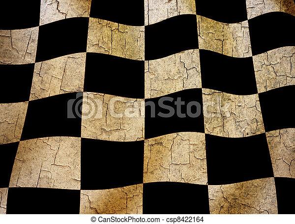 Grunge chequered flag - csp8422164