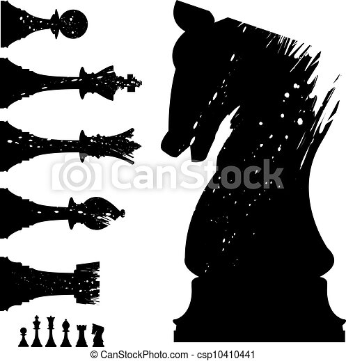 Grunge chess set - csp10410441