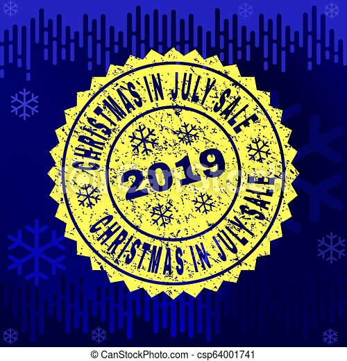 Christmas In July Sale Images.Grunge Christmas In July Sale Stamp Seal On Winter Background