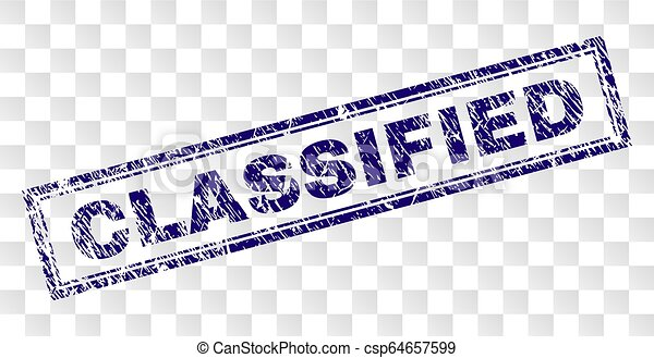 Grunge CLASSIFIED Rectangle Stamp - csp64657599