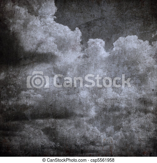 grunge cloudy sky, perfect halloween background - csp5561958