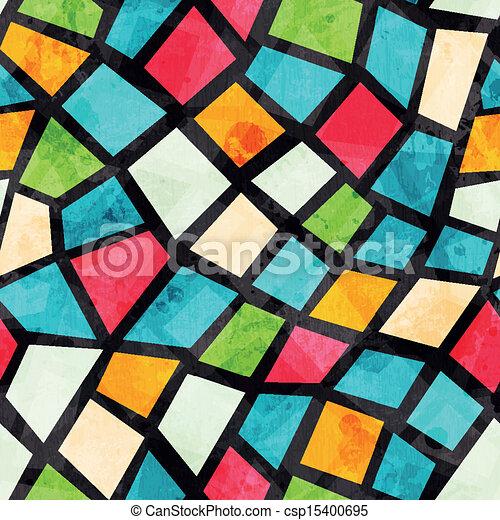grunge, colorato, modello, effetto, seamless, mosaico - csp15400695