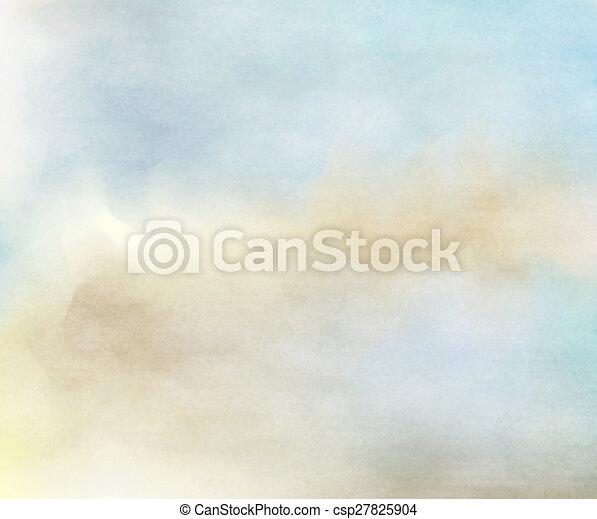 Colorida acuarela. Fondo de textura grunge. Trasfondo suave. - csp27825904