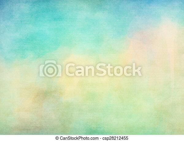 grunge, coloridos, watercolor., textura, experiência., macio - csp28212455