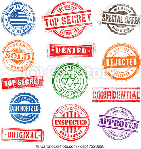 Grunge Commercial Stamps Set 1 - csp17328638