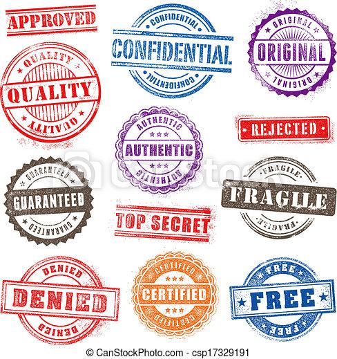 Grunge Commercial Stamps set 2 - csp17329191