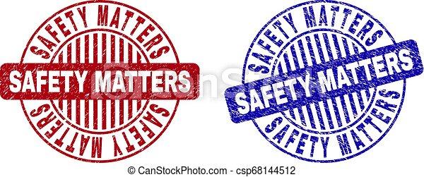 grunge, compter, timbres, sécurité, textured, rond - csp68144512