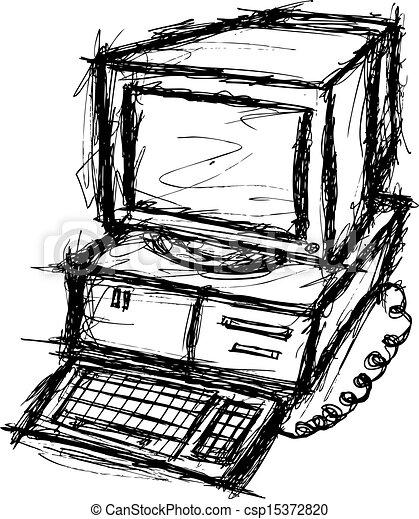 grunge computer - csp15372820