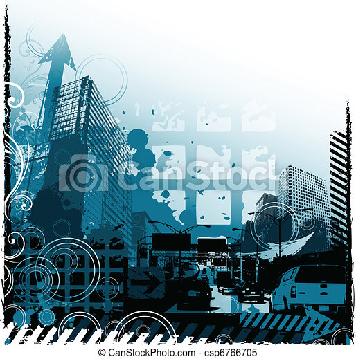 grunge, conception urbaine - csp6766705