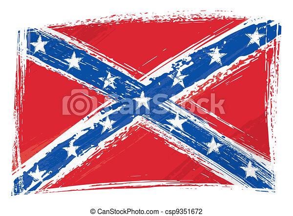 Grunge Confederate flag - csp9351672