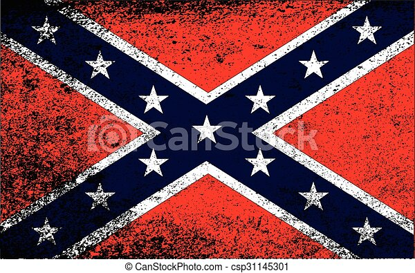 Grunge Confederate Flag - csp31145301