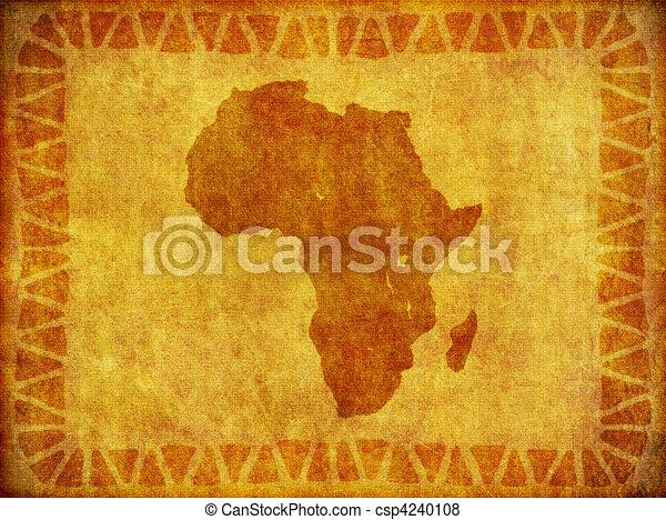 grunge, continente, fondo, africano - csp4240108